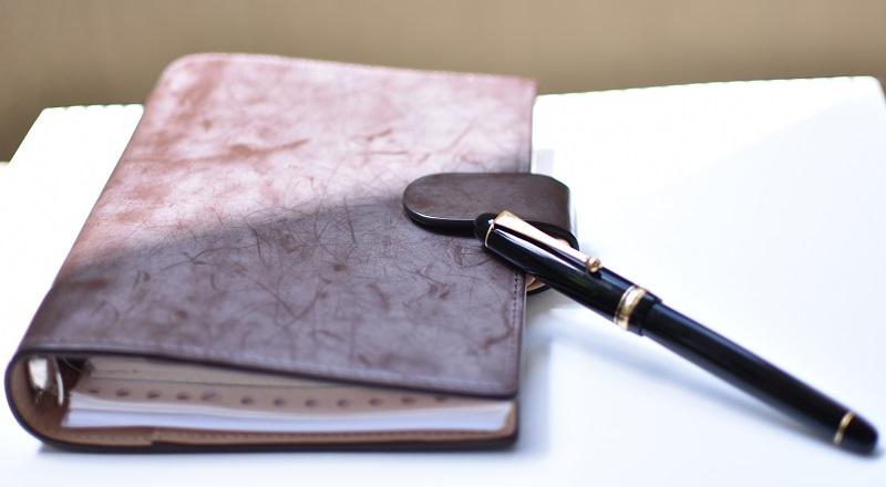 実績の画像_手帳と万年筆